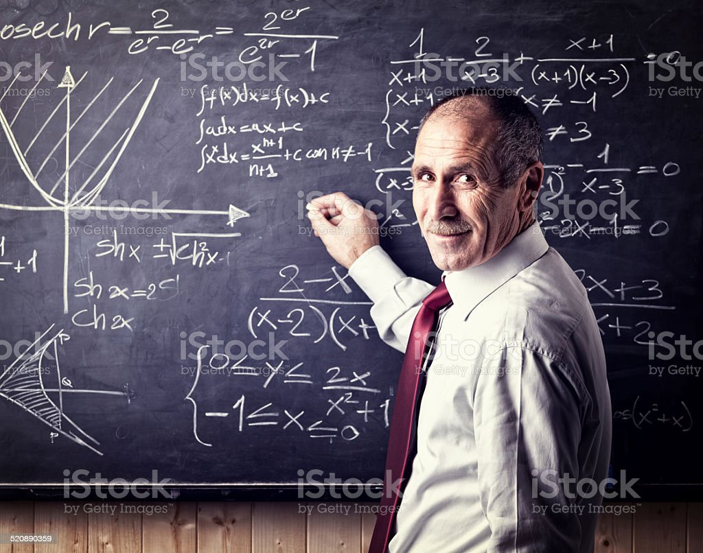 senior teacher stock photo