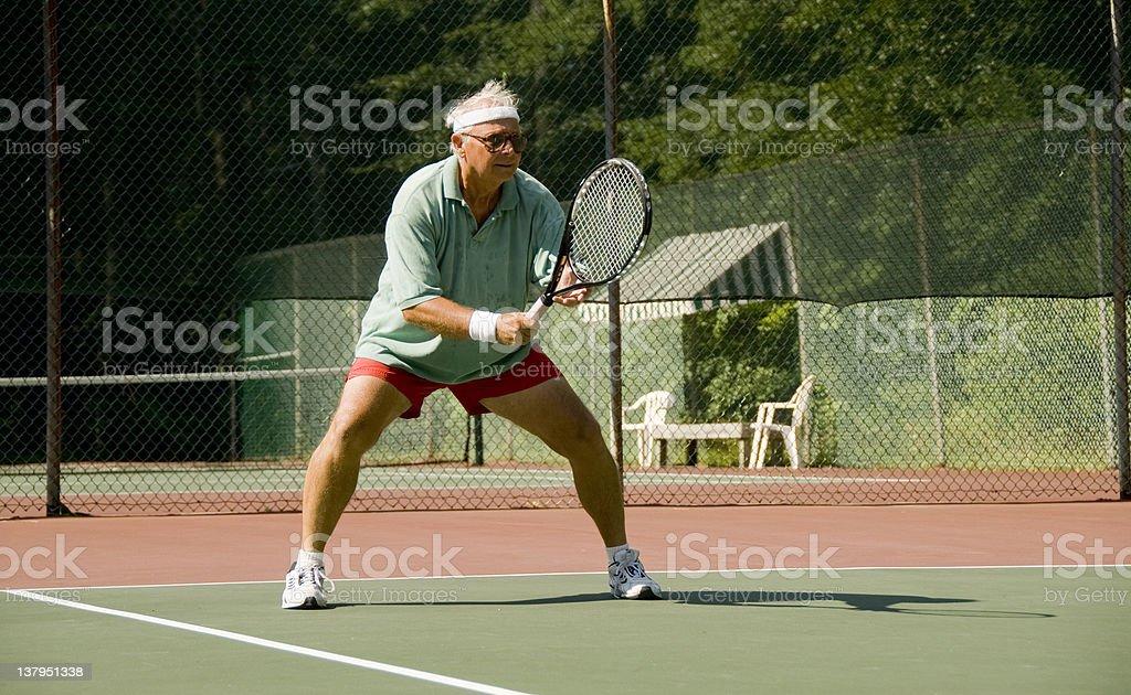 Senior Tennis royalty-free stock photo