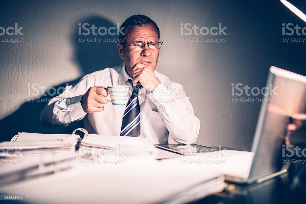 Senior Thinking stock photo