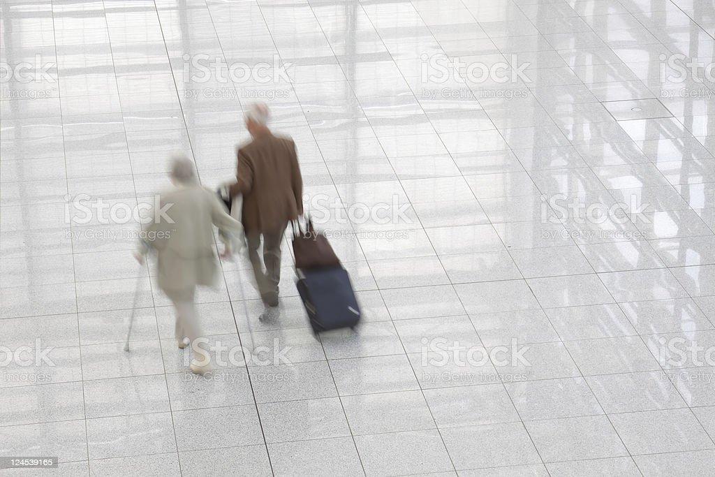 senior travellers royalty-free stock photo