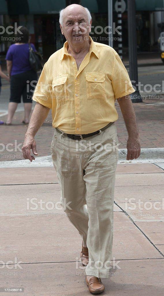 Senior walking royalty-free stock photo