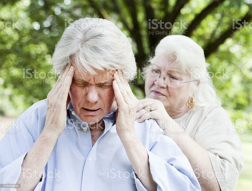 Senior with a Headache royalty-free stock photo