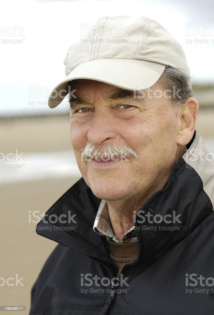 Senior with baseball cap royalty-free stock photo