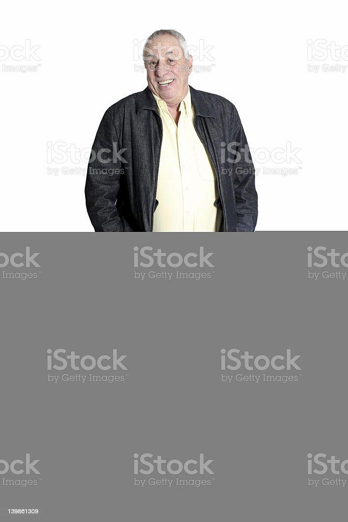 senior with chest pain stock photo