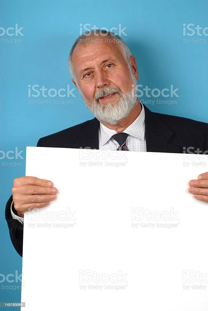 Senior with copy space royalty-free stock photo