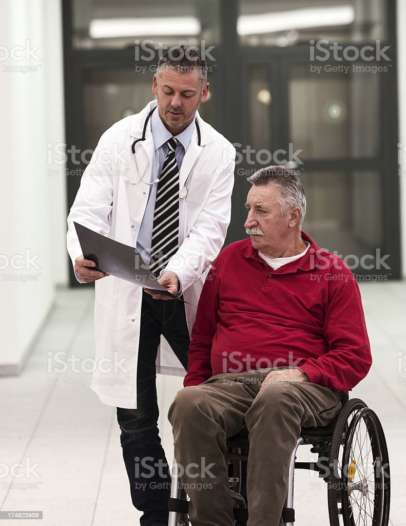 Senior with Doctor royalty-free stock photo