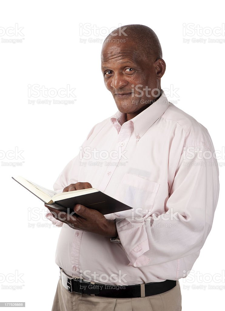 Senior with holy book royalty-free stock photo