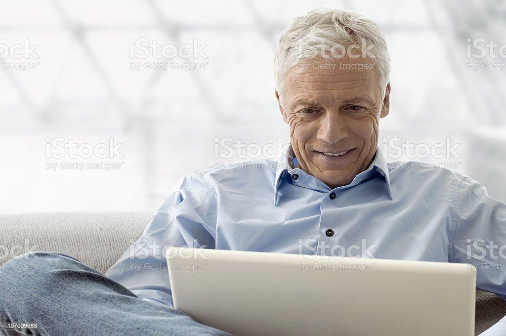 Senior with Laptop royalty-free stock photo