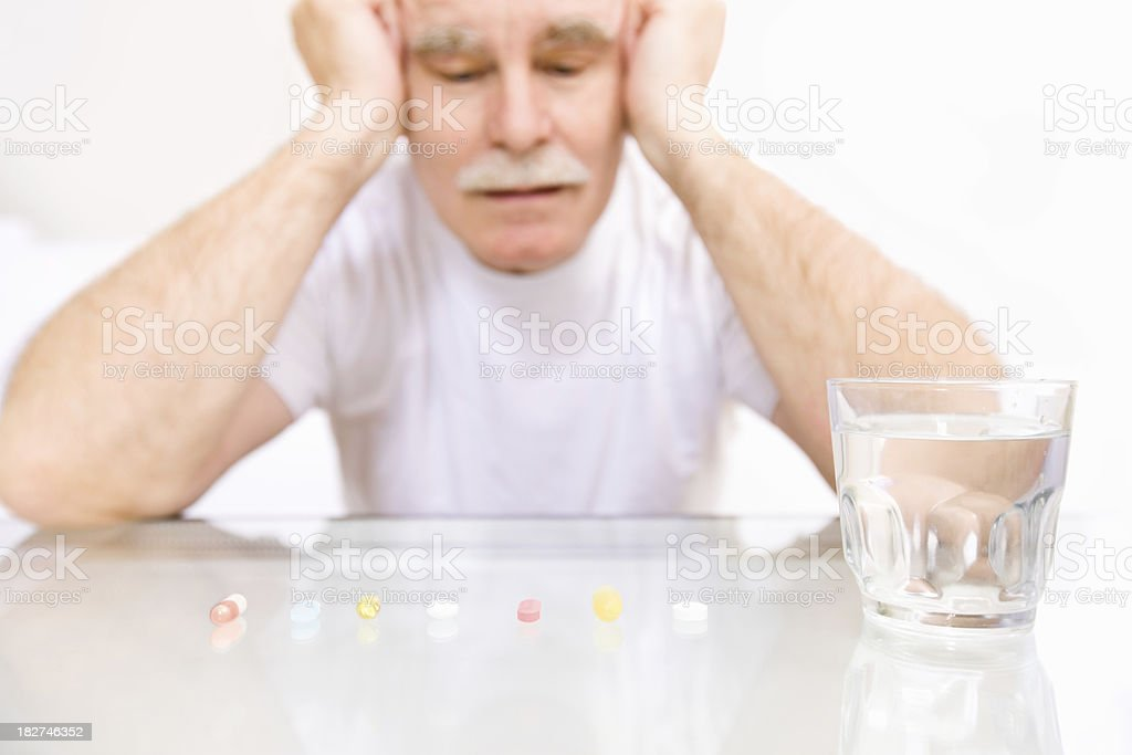 Senior with Pills royalty-free stock photo