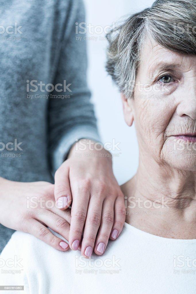 Senior with schizophrenia stock photo