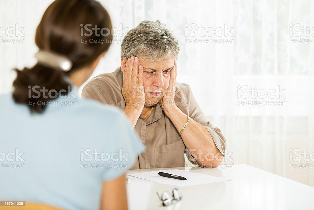 Senior Woman and Psychiatrist royalty-free stock photo