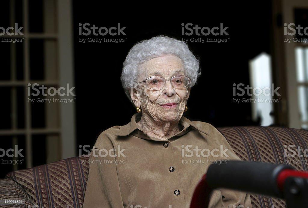 Senior Woman at an Assisted Living Facility stock photo