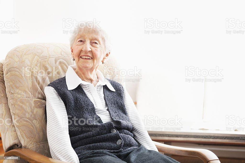 senior woman at home portrait royalty-free stock photo