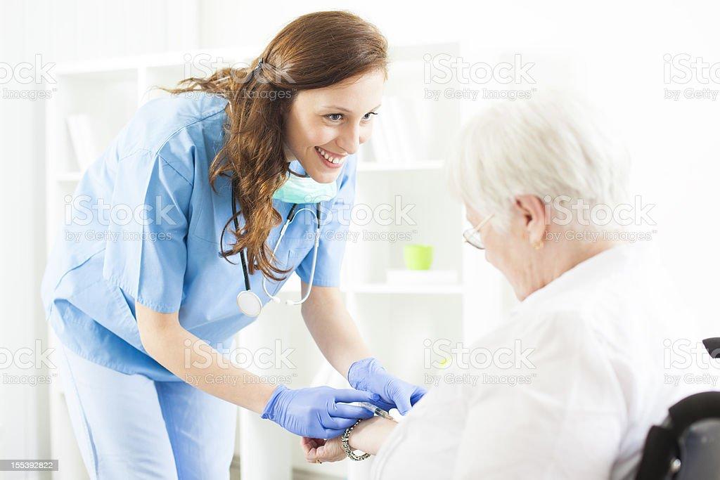 Senior Woman at nursing home. royalty-free stock photo