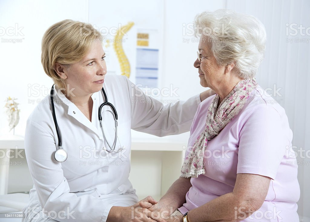 Senior woman at the doctor's office royalty-free stock photo