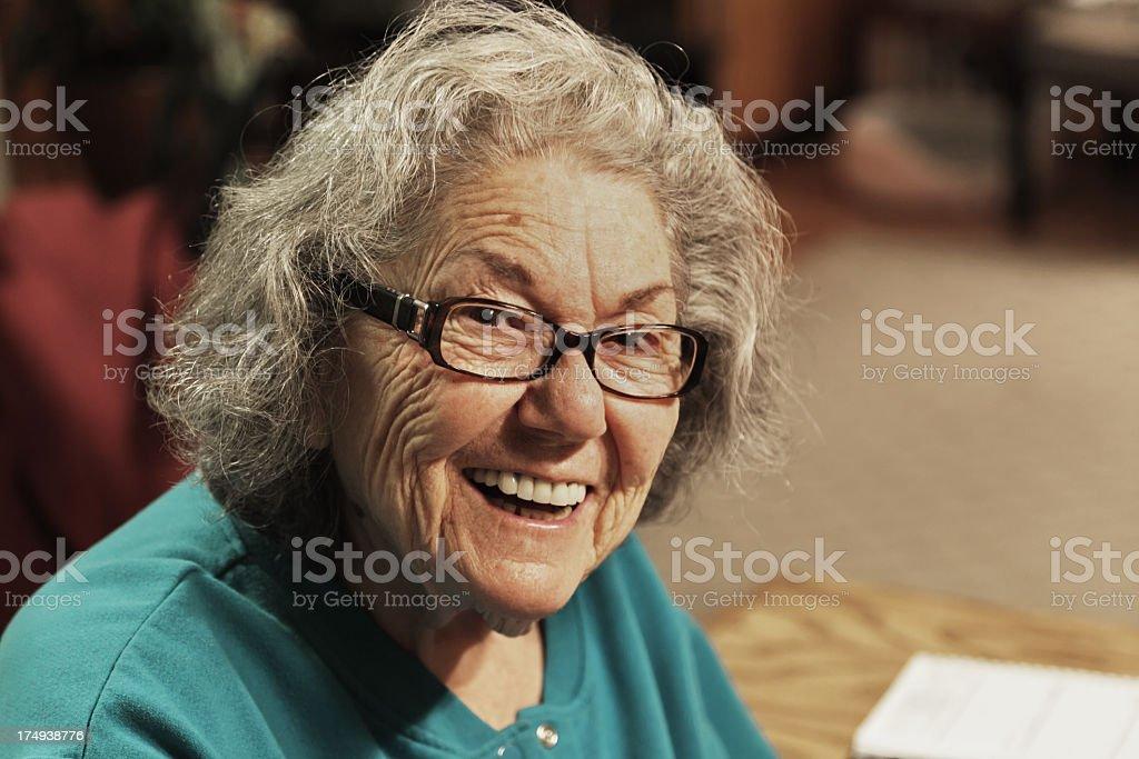 Senior Woman Cheerful Smile royalty-free stock photo
