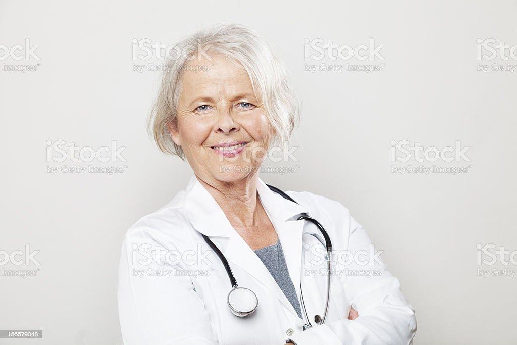senior woman doctor confidence royalty-free stock photo