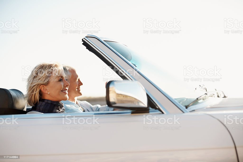 Senior woman excited about the vacation royalty-free stock photo
