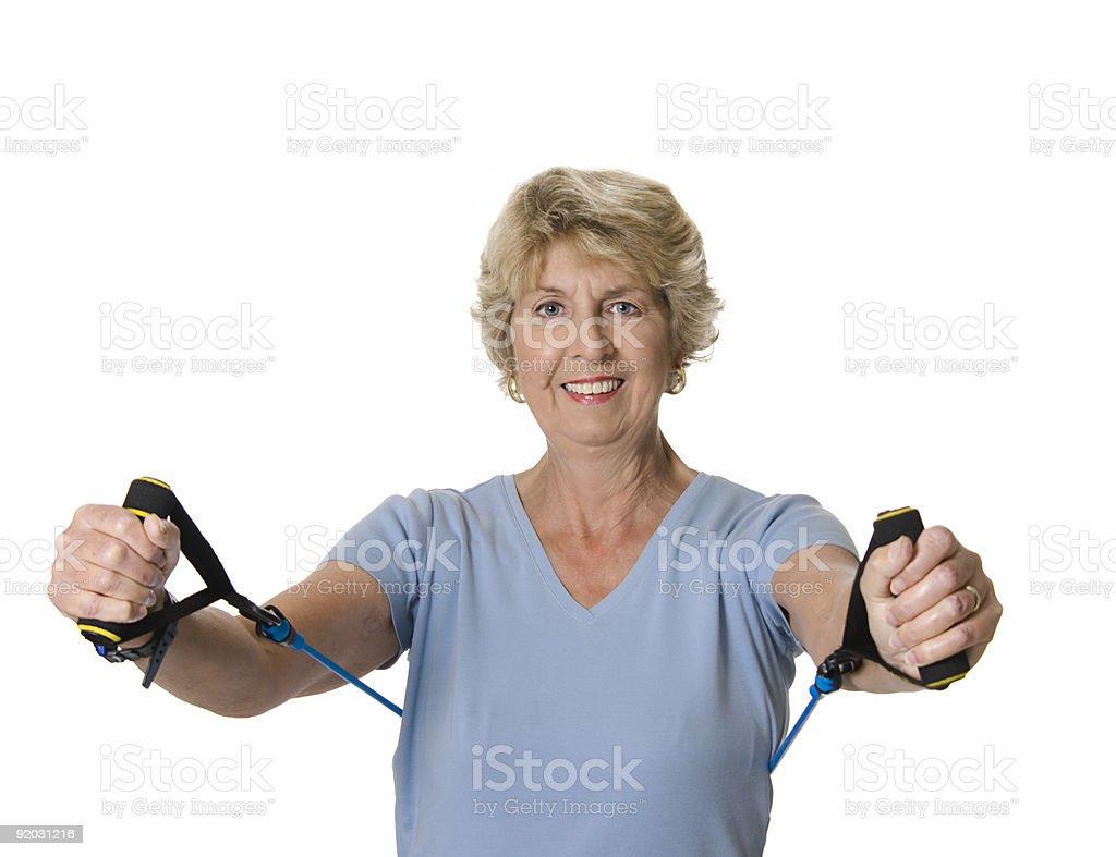 Senior woman exercising royalty-free stock photo