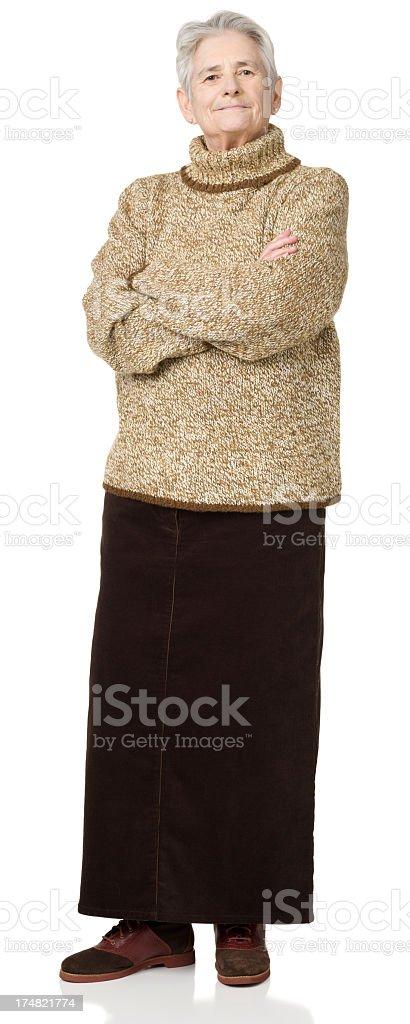Senior Woman Full Length Portrait stock photo