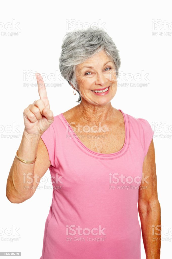 Senior woman got an idea royalty-free stock photo