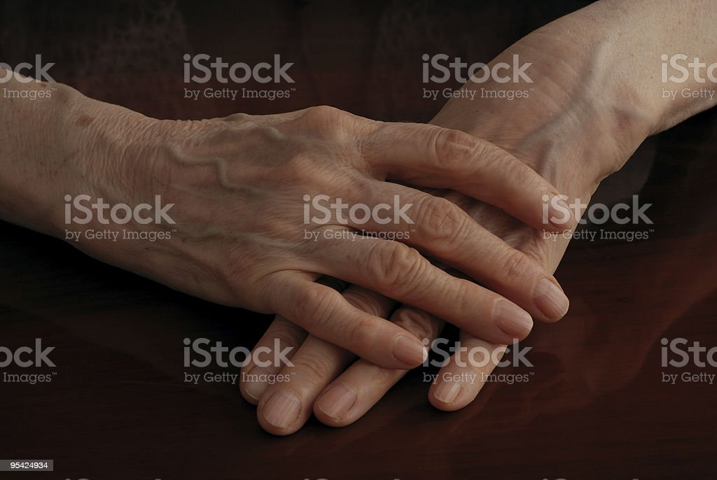 Senior Woman Hand royalty-free stock photo
