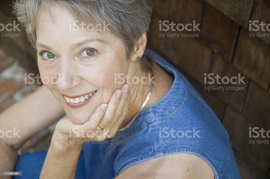 Senior Woman Healthy and Happy royalty-free stock photo