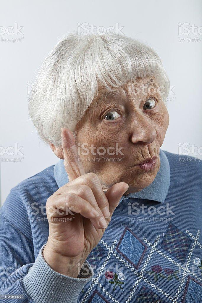 Senior Woman I Told You So stock photo