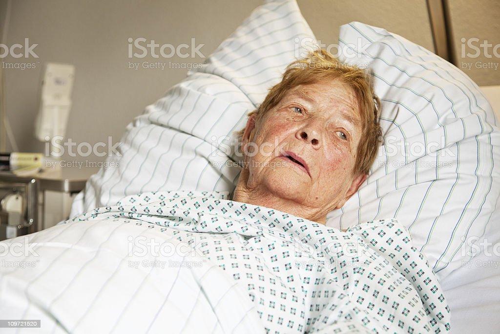senior woman in hospital royalty-free stock photo