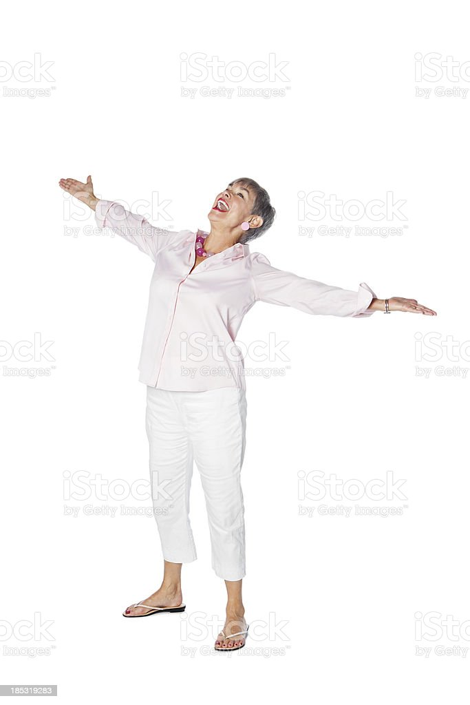 Senior Woman Living a Carefree Life royalty-free stock photo