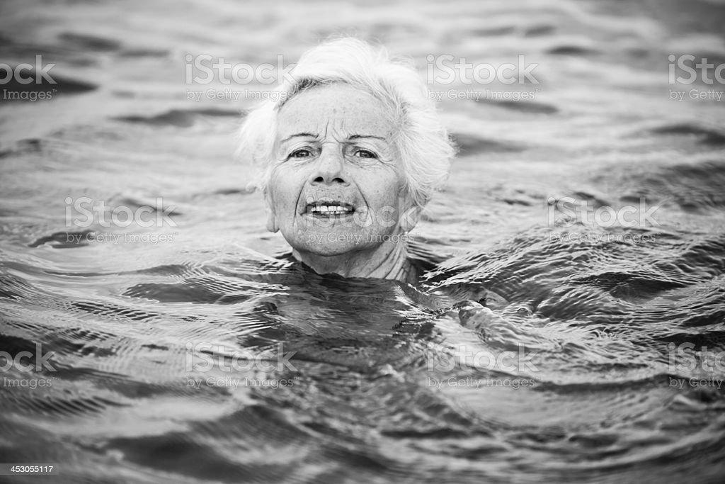 Senior woman need help royalty-free stock photo