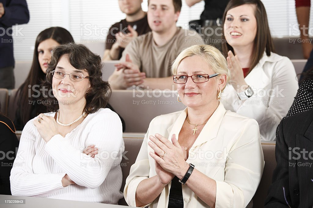Senior woman on lectures royalty-free stock photo