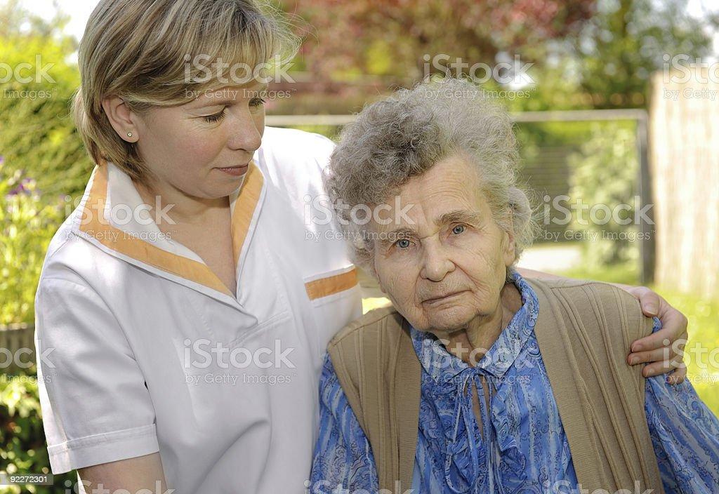 Senior woman outdoors royalty-free stock photo