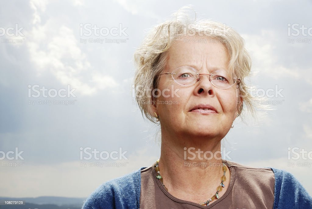 senior woman royalty-free stock photo