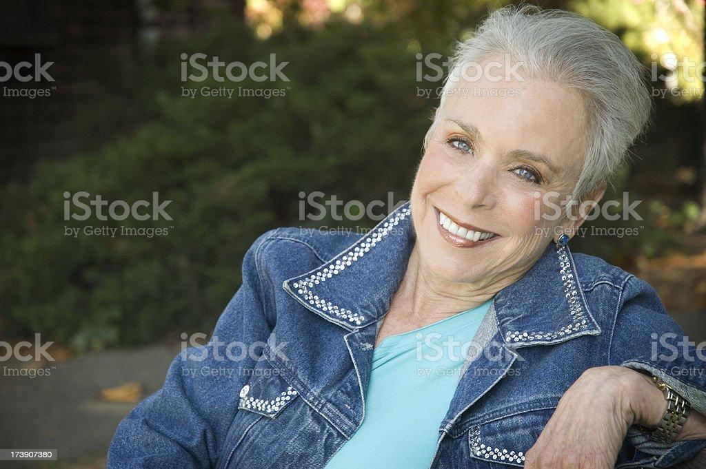 60+ Senior Woman stock photo
