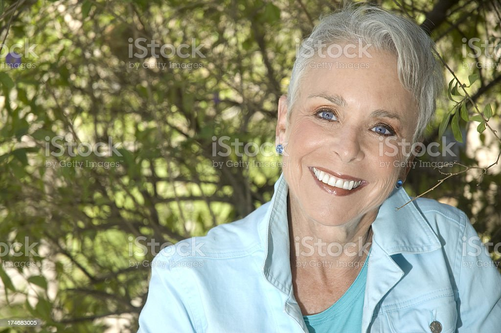 60+ Senior Woman royalty-free stock photo