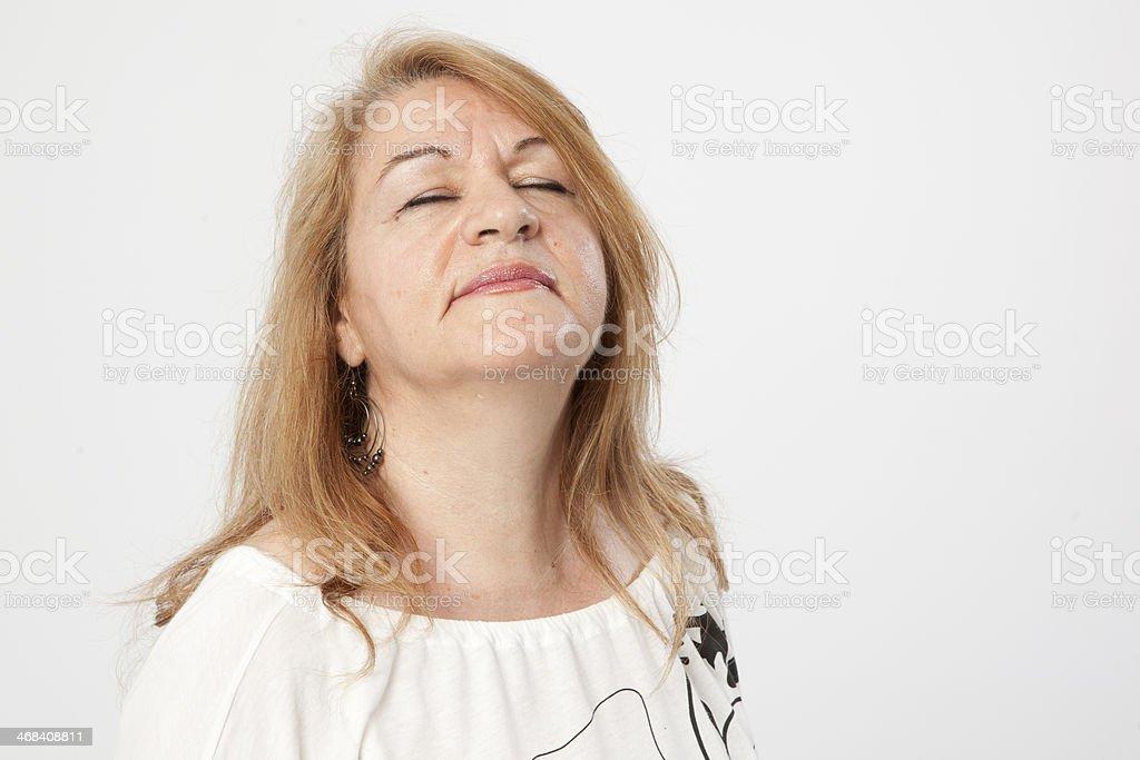 senior woman portait royalty-free stock photo