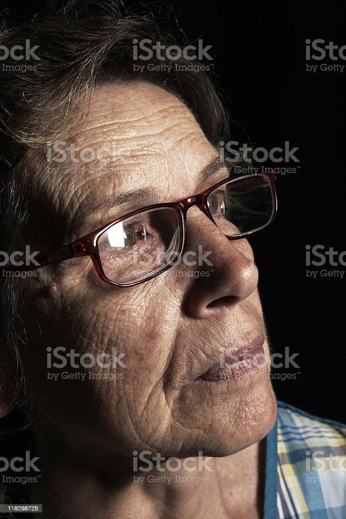 Senior Woman Portrait. Color Image stock photo