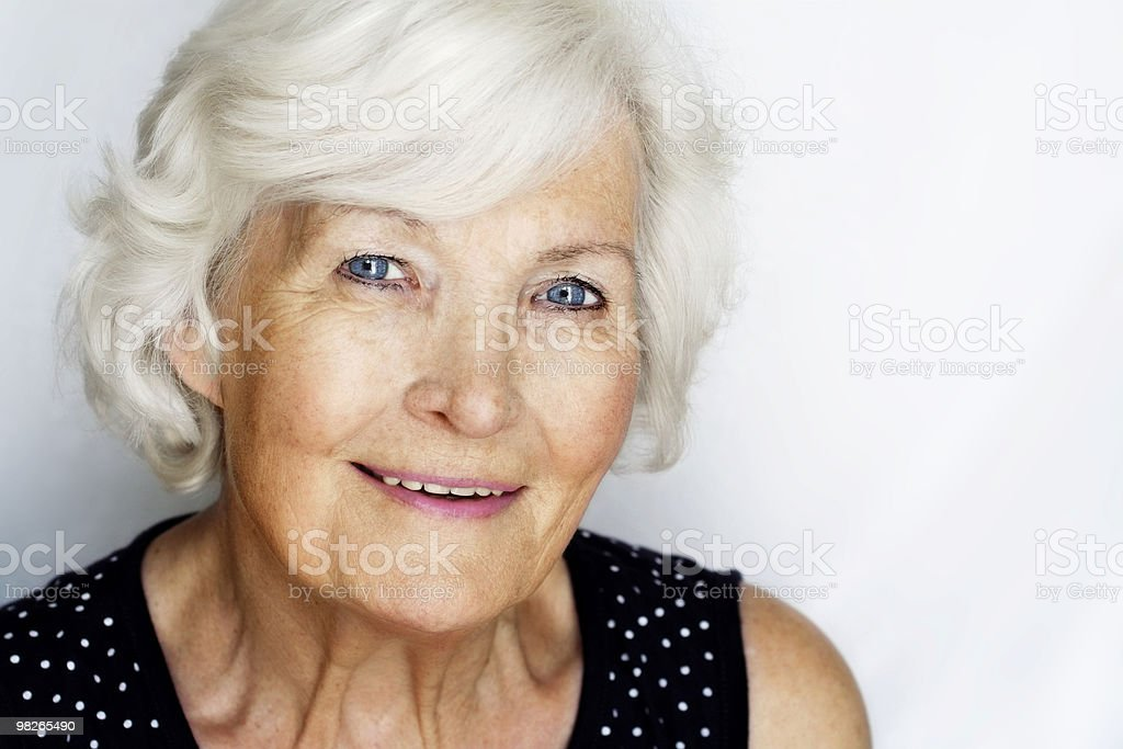Senior woman portrait royalty-free stock photo