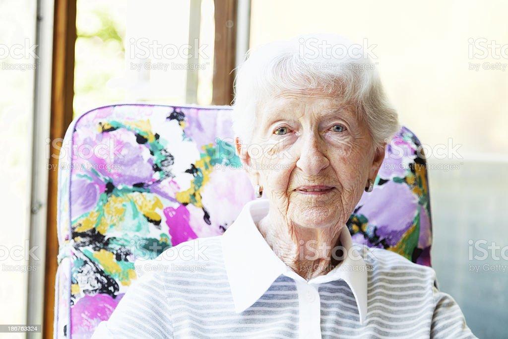 senior woman portrit royalty-free stock photo