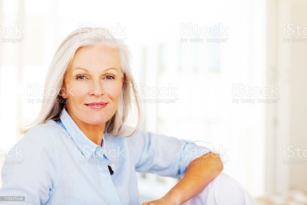 Senior Woman Smiling royalty-free stock photo