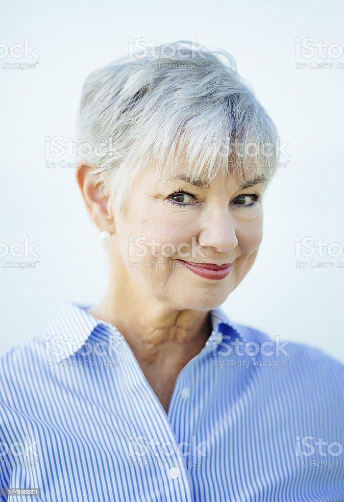 senior woman smiling royalty-free stock photo