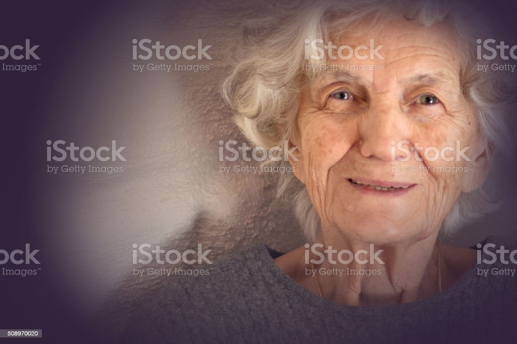 Senior Woman Smiling stock photo