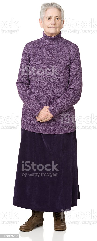 Senior Woman Standing Portrait royalty-free stock photo