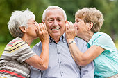 Senior Woman Telling Secrets
