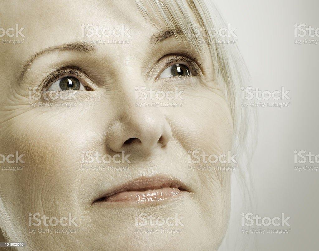 Senior Woman Thinking royalty-free stock photo