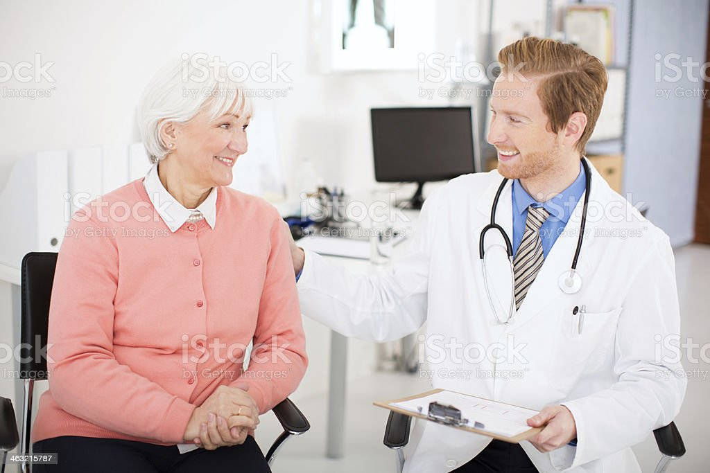 Senior woman visiting doctor. royalty-free stock photo