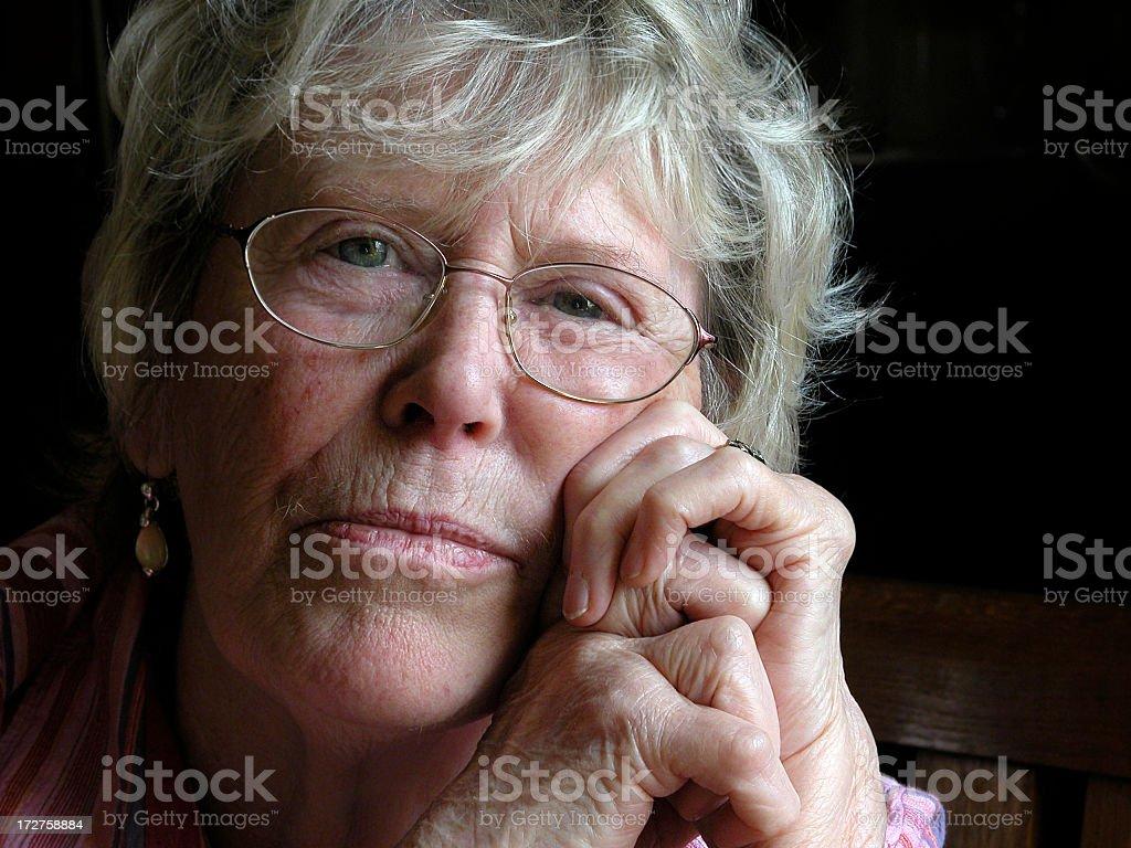 Senior woman with athritis royalty-free stock photo