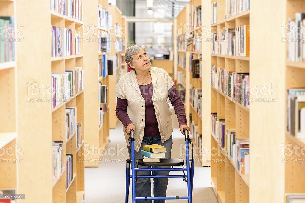 Senior woman with books royalty-free stock photo