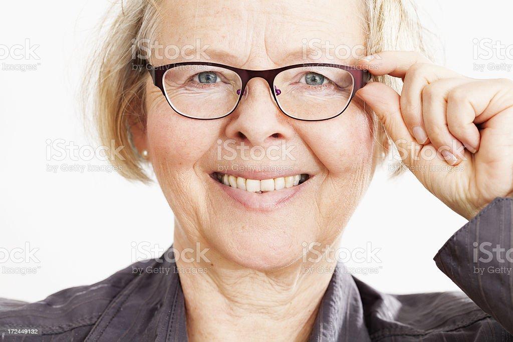 senior woman with eyeglasses royalty-free stock photo